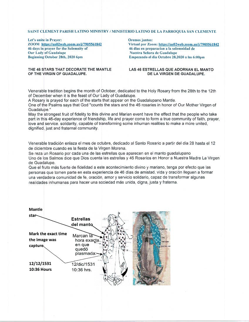 information about Our Lady of Guadalupe Rosary